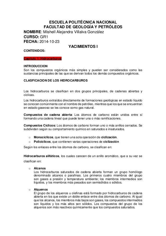 ESCUELA POLITÉCNICA NACIONAL  FACULTAD DE GEOLOGÍA Y PETRÓLEOS  NOMBRE: Mishell Alejandra Villalva González  CURSO: GR1  F...