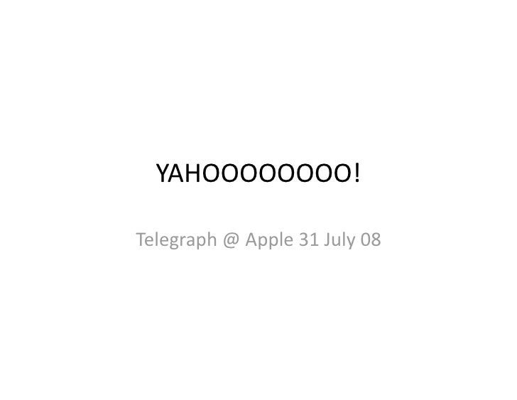 Yahoo! Technologies