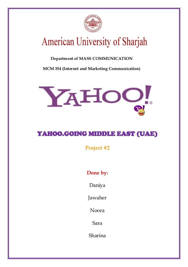 Yahoo project 2