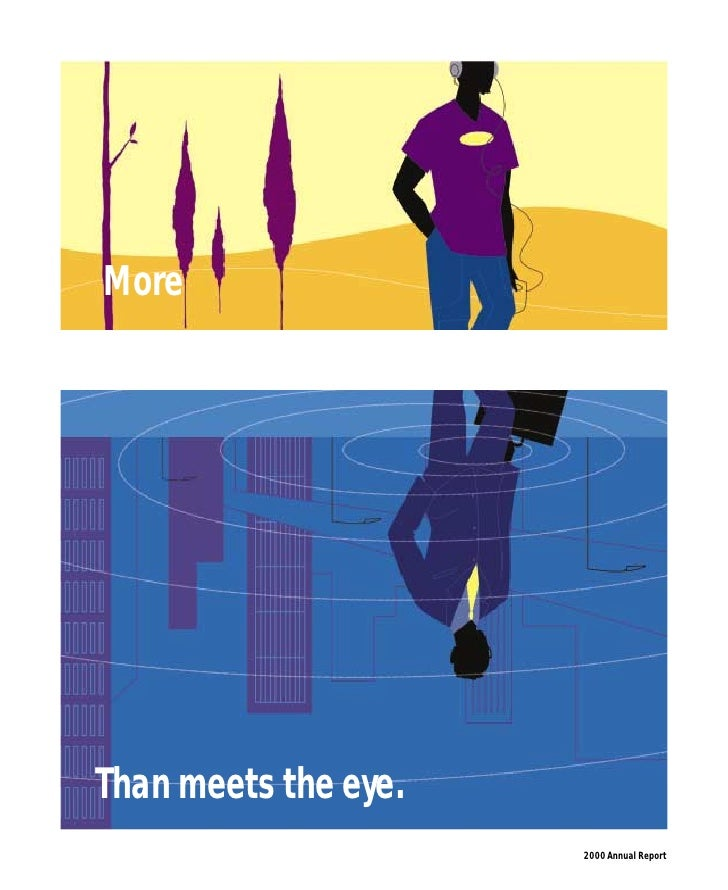 More     Than meets the eye.                       2000 Annual Report