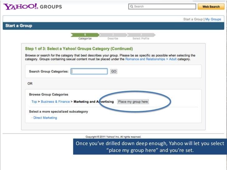 How to create a group on Yahoo.com