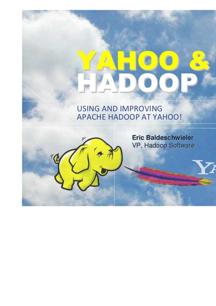 Yahoo & Hadoop