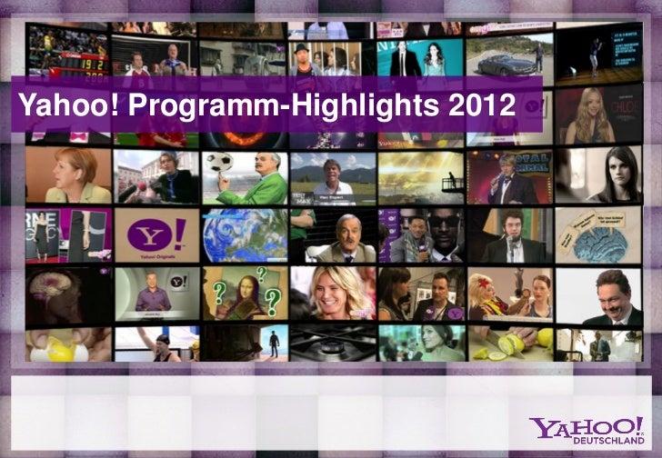 Yahoo! Programm-Highlights 2012
