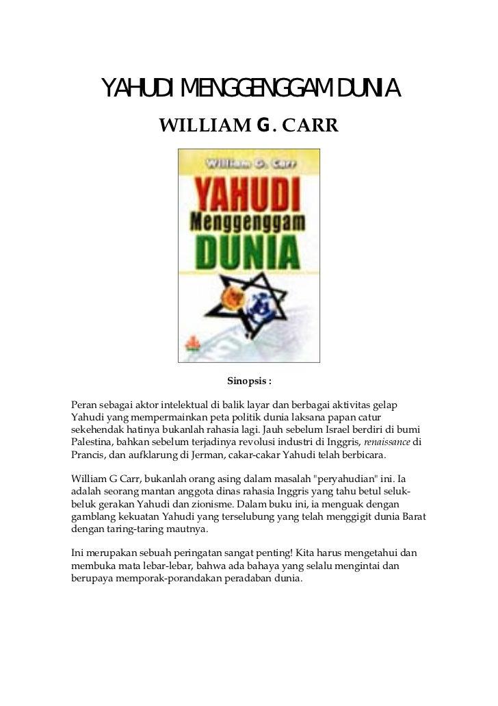 YAHUDI MENGGENGGAM DUNIA                    WILLIAM G. CARR                                   Sinopsis :Peran sebagai akto...