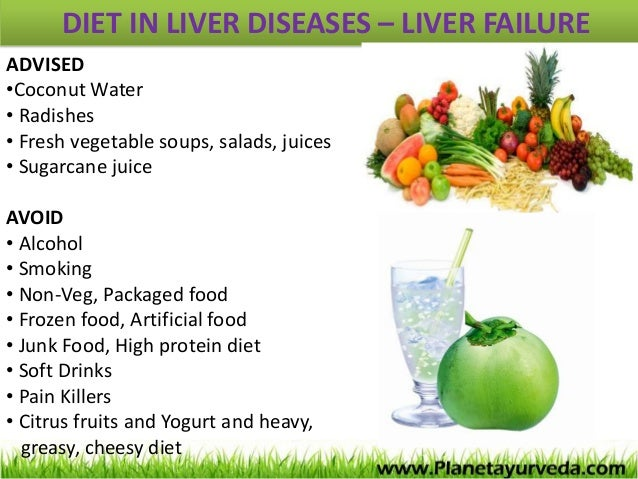 Healthy food for liver patients