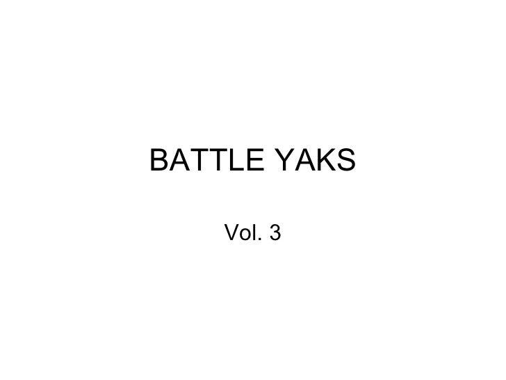 BATTLE YAKS Vol. 3