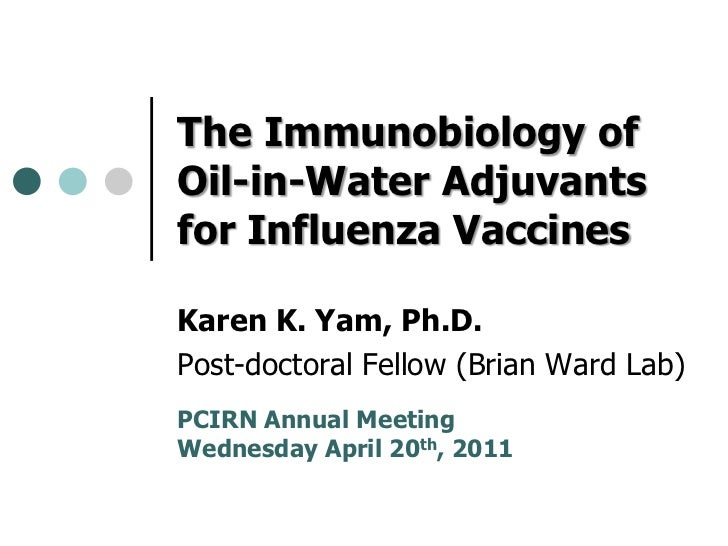The Immunobiology of Oil-in-Water Adjuvants for Influenza Vaccines