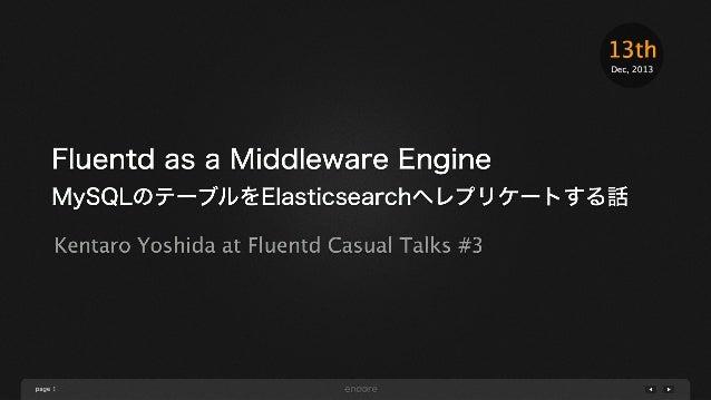 """Fluentdベースのミドルウェア""""Yamabiko""""でMySQLのテーブルをElasticsearchへレプリケートする話 #fluentdcasual"""