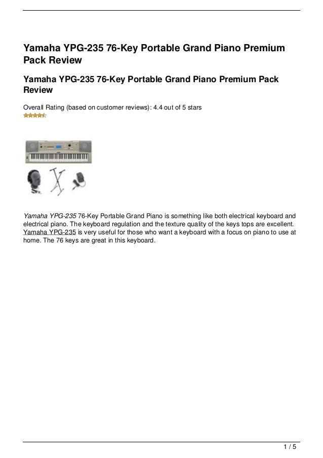 yamaha ypg 235 76 key portable grand piano manual