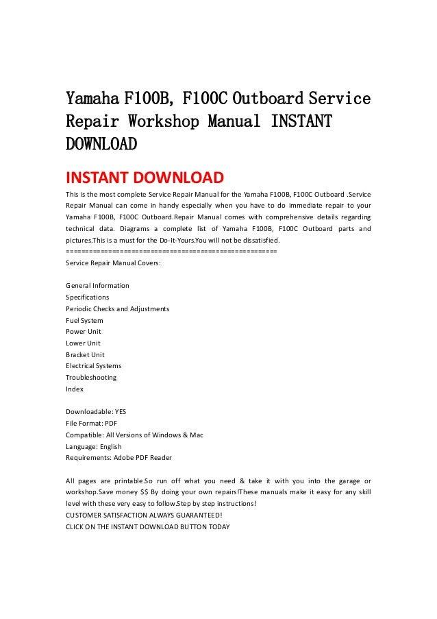 outboard download service repair workshop manual