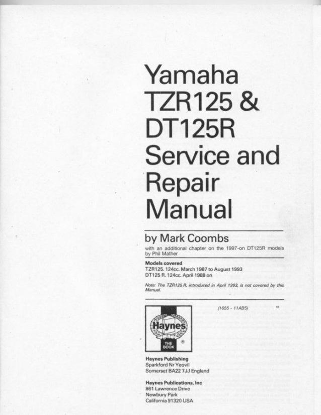 Yamaha tzr125(87 93)-dt125_r(88-02)