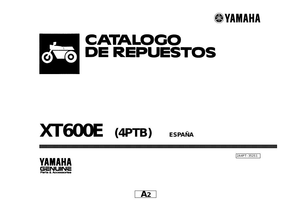 Yamaha Xt600 E Parts Catalogue Spanish