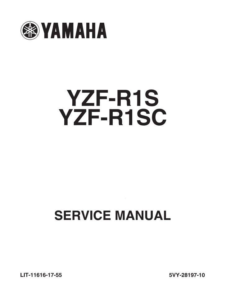 Yamaha Yzf R1 2004 Service Manual Lit 11616 17 55 5 Vy