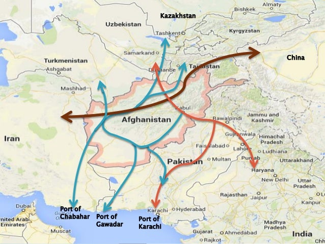 Tajikistan Central Asia and One Belt One Road strategy – Afghanistan Iran Map