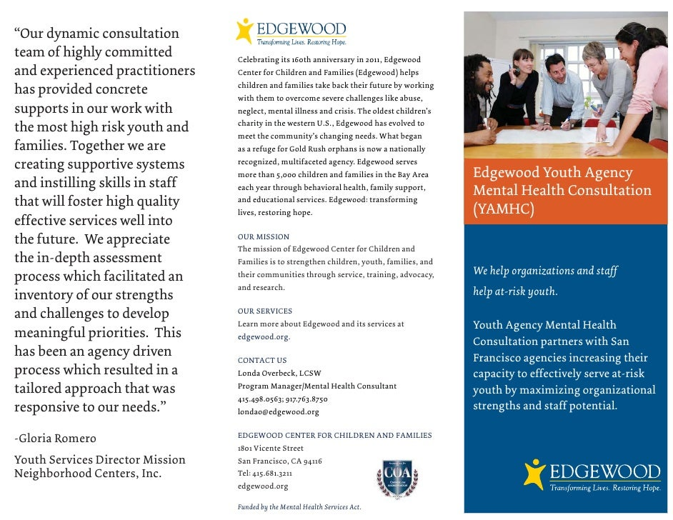 """""""Our dynamic consultationteam of highly committed          Celebrating its 160th anniversary in 2011, Edgewoodand experien..."""