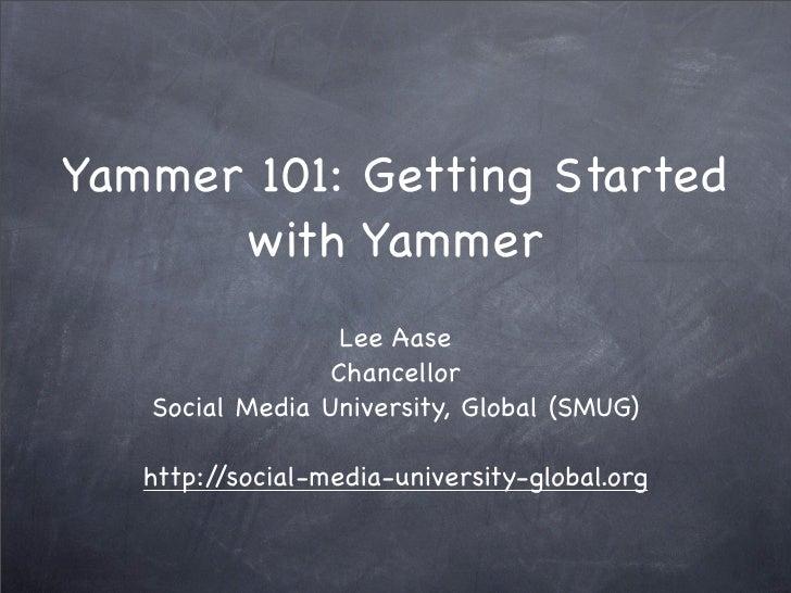 Yammer 101