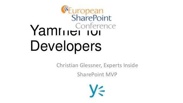 Yammer for developers