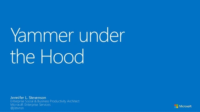 Under the hood of Yammer