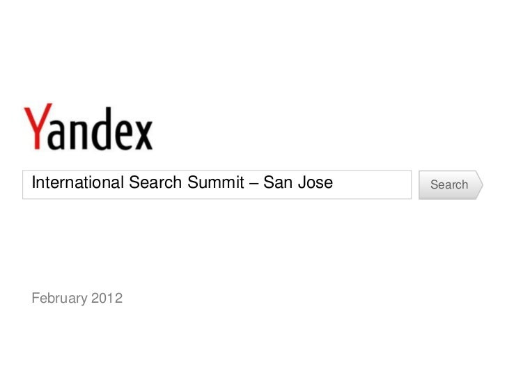 SMX ISS - Yandex Presentation