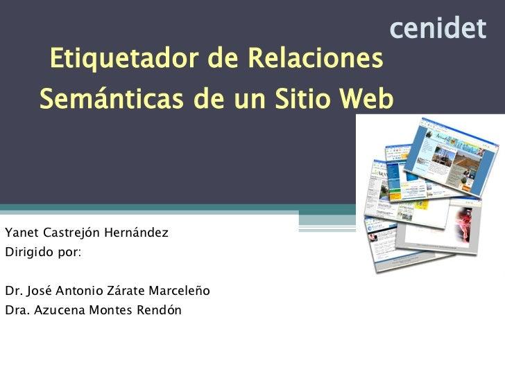 Etiquetador de Relaciones Semánticas de un Sitio Web
