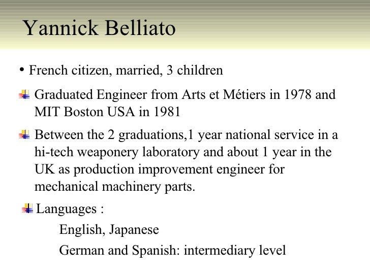 Yannick Belliato English
