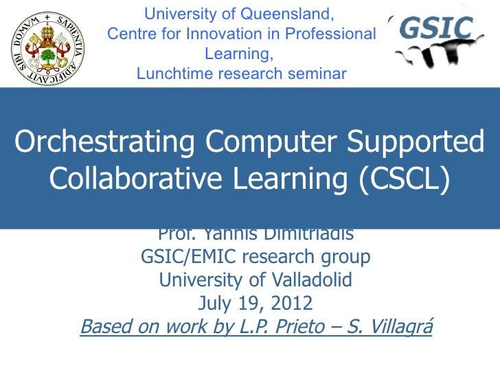 Yannis@brisbane cipl research_seminar_20120717