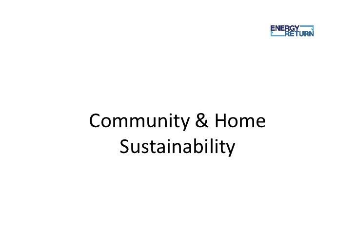 Community & Home   Sustainability