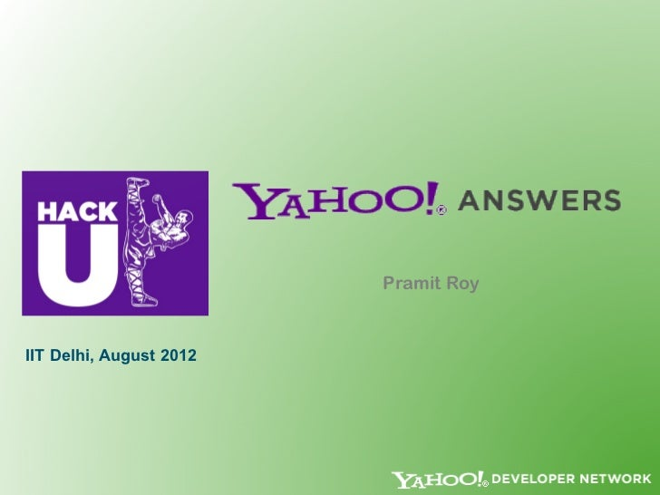 Yahoo! Answers HackU 2012