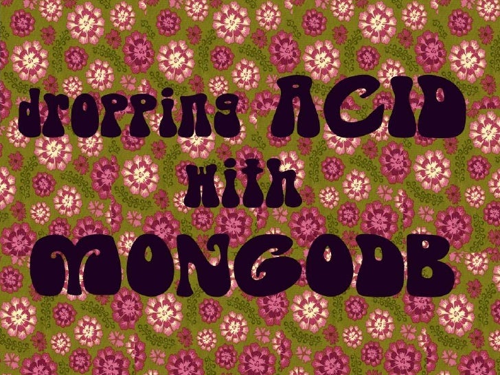Dropping ACID with MongoDB