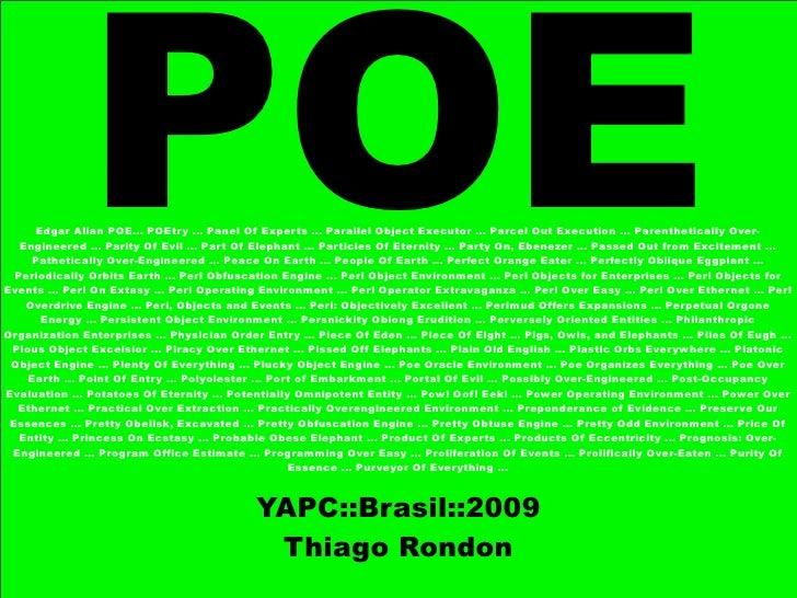 YAPC::Brasil 2009, POE