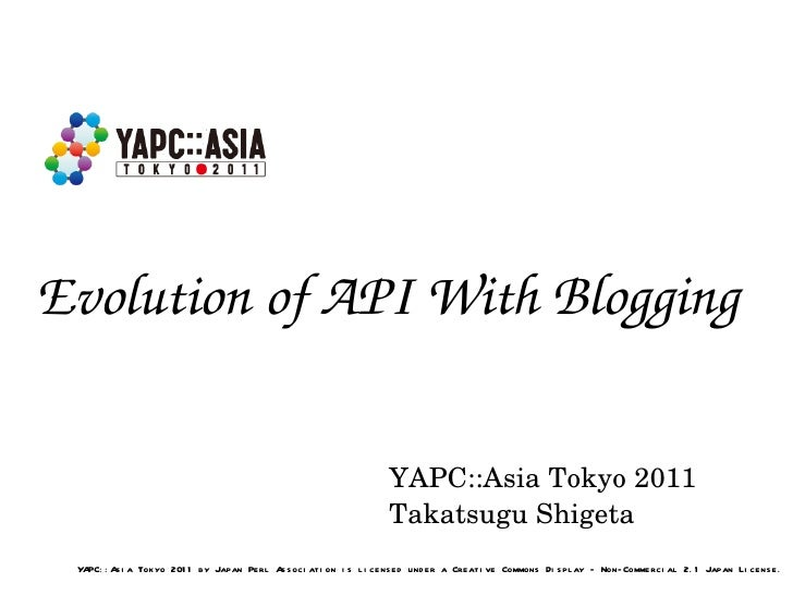 Evolution of API With Blogging