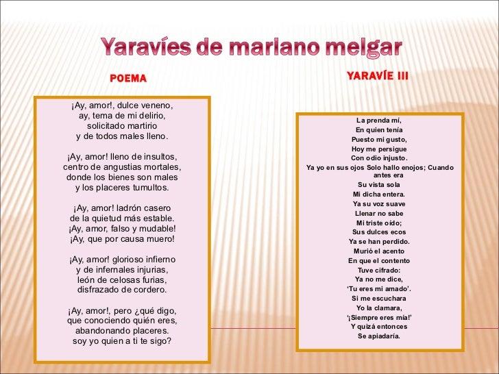 Yaravíes de Mariano Melgar