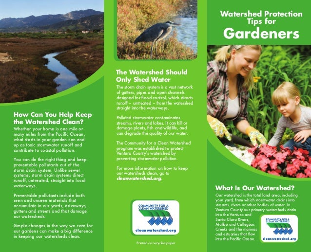 Watershed Protection Tips for Gardeners - Ventura County, California