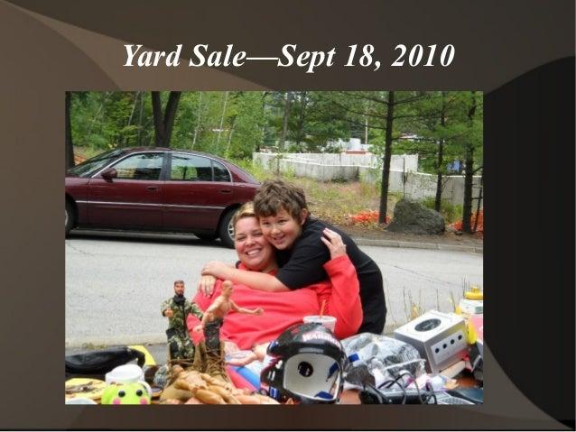 Yard Sale—Sept 18, 2010