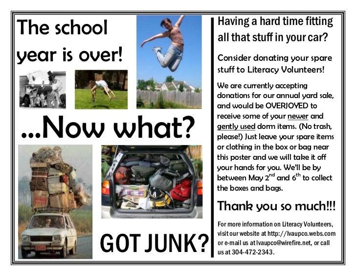 Yard Sale Donation Flyer