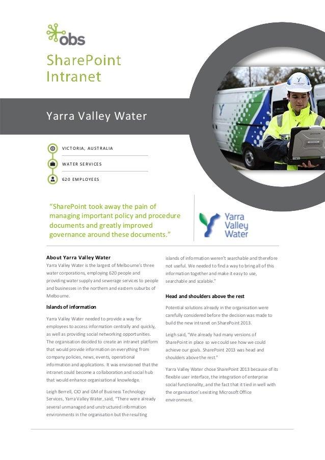 Yarra Valley Water Case Study