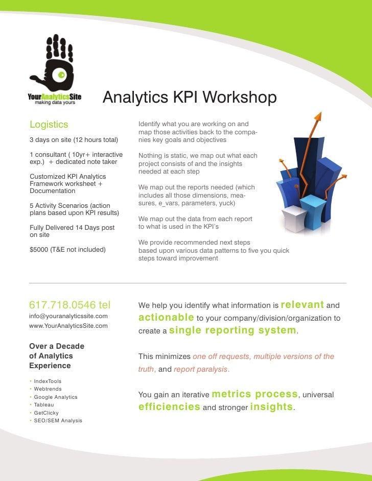 Your Analytics Site Kpi Workshop