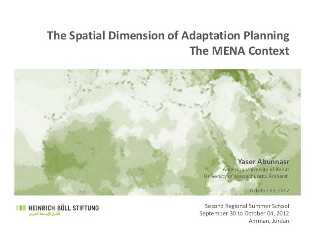 The Spatial Dimension of Adaptation Planning                           The MENA Context                                   ...