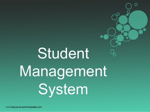 Student management system project report c