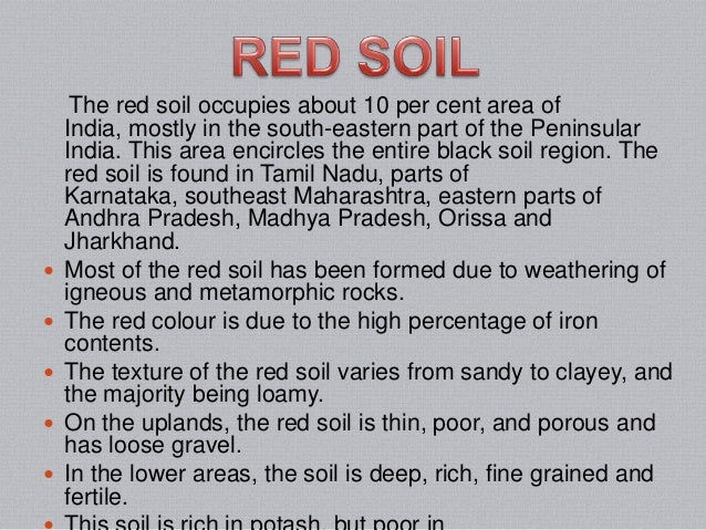 Different types of soil for Information about different types of soil