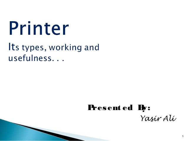 Printers And Its Types