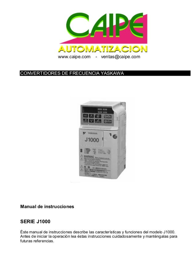 Yas manual j1000frecuencia