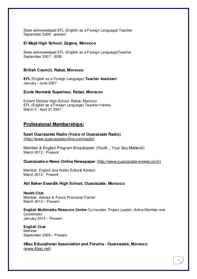 Sample Resume For Foreign Language Teachers