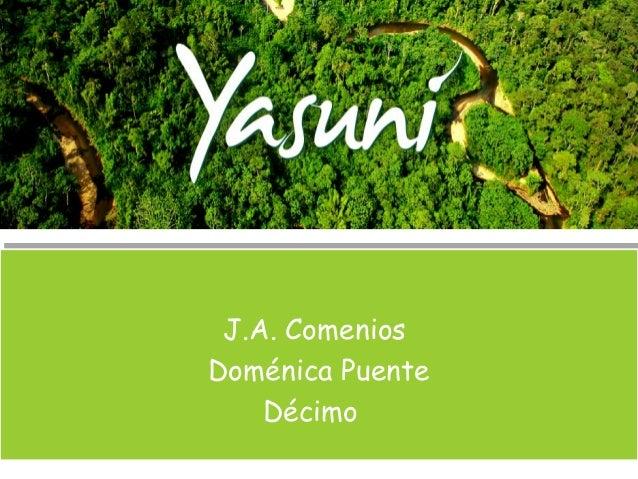 J.A. Comenios Doménica Puente Décimo