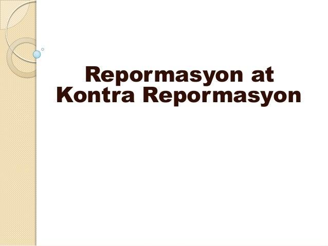 Repormasyon atKontra Repormasyon