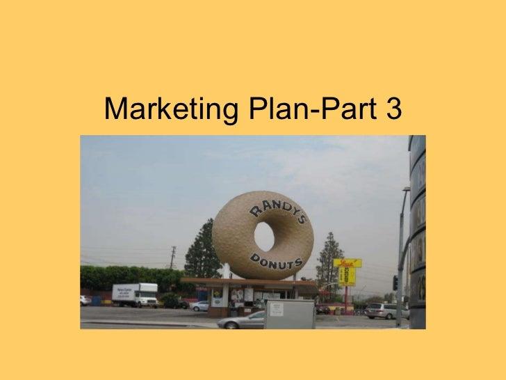 Marketing Plan-Part 3