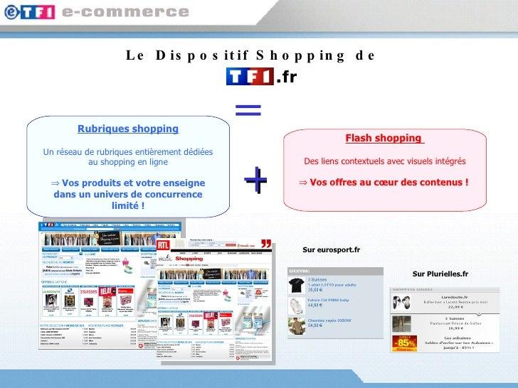 Le Dispositif Shopping de  <ul><li>Rubriques shopping </li></ul><ul><li>Un réseau de rubriques entièrement dédiées au shop...