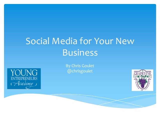 Social Media for Your New Business