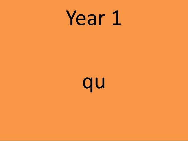 Year 1 qu