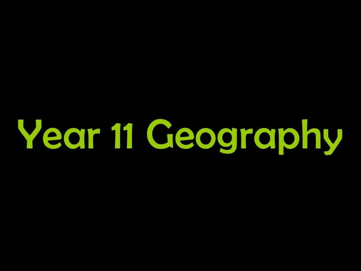 Year 11 Geography